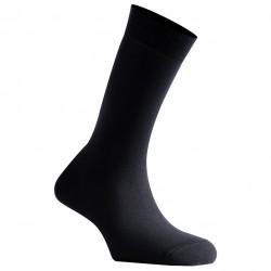 Mi-Chaussettes Noires Mixtes En Coton Couleur Fabriquées En France