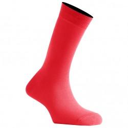 Mi-Chaussettes Rouge Vif En Coton Couleur De Fabrication Française