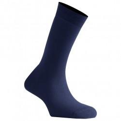 Mi-Chaussettes Bleu Marine Mixtes En Coton Couleur Fabriquées En France