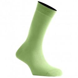 Mi-Chaussettes Vert Anis Mixtes En Coton Couleur Fabriquées En France