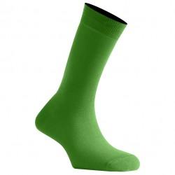 Mi-Chaussettes Vert Pomme Mixtes En Coton Couleur Fabriquées En France