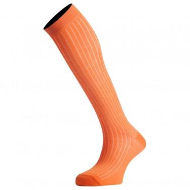 Mi-Bas Coton Fil D'Écosse Couleur Orange De Qualité Fabriqués En France