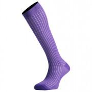 Mi-Bas Coton Fil D'Écosse Couleur Violet De Qualité Fabriqués En France