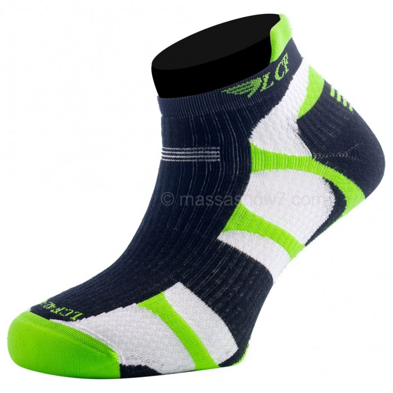 chaussettes running en drytex mercury vert et blanc lcf. Black Bedroom Furniture Sets. Home Design Ideas