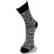 Mi-chaussette Coton Safari Zèbres Noir & Blanc