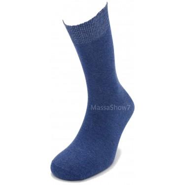Chaussette Coton Ville Bleu Denim Sans Couture