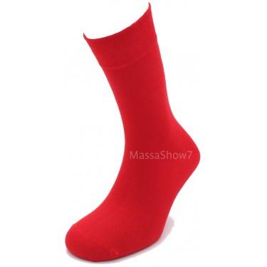 Chaussette Coton Couleur Rouge Vif Sans Couture