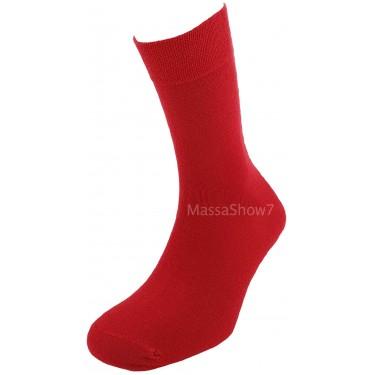 Chaussettes Coton Couleur Rouge Cardinal Sans Couture Pour Homme