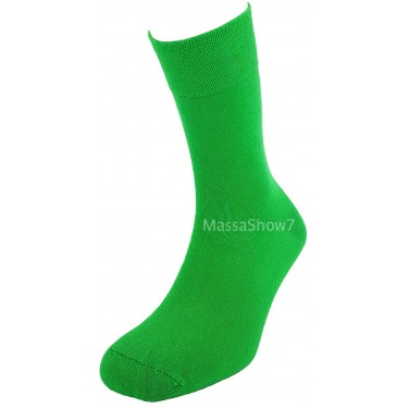 Chaussettes Coton Couleur Vert Sans Couture Pour Homme