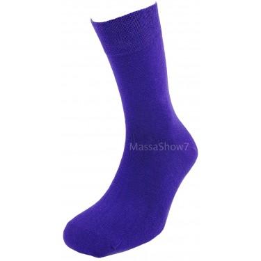 Chaussettes Coton Couleur Violet Sans Couture Pour Homme