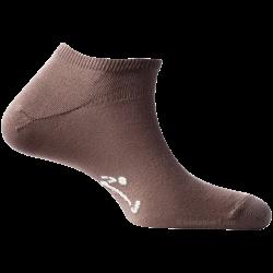 Mini-Socquettes Pour Homme Et Femme Beige Foncé