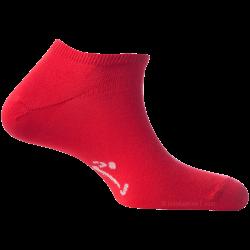 Mini-Socquettes Pour Homme Et Femme Rouge Vif