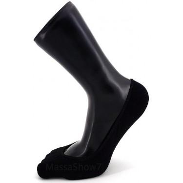 Invisibles spéciales ballerines coton noir