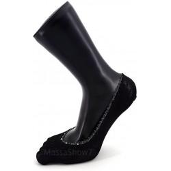 Invisibles ballerines ajourées noires patins confort