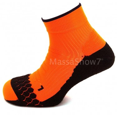 Socquette Running Néon Coolmax® Orange Fluo
