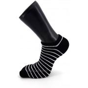 Mini-Socquette Fantaisie Black & White Noir Rayé Blanc