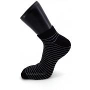 Mini Socquettes Coton Fantaisie Rayures Fines Noir Et Gris