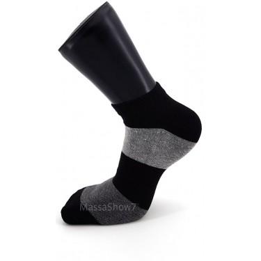 Mini Socquettes Coton Fantaisie Tricolore Noir Et Gris