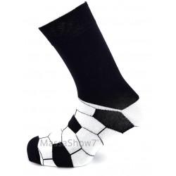 Chaussettes Fantaisie Homme Noir Ballon De Football