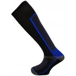 Chaussettes de Contention - Compression Sportive Bleu et Noir