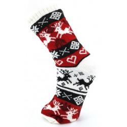 Mi-chaussette ABS Noël Blanche