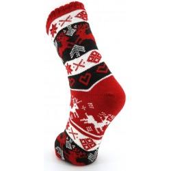 Mi-chaussette ABS Noël Rouge
