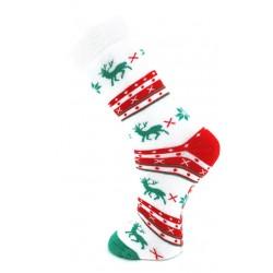 Mi-chaussette Coton ABS Noël Blanche