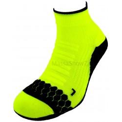 Box de deux chaussettes de sport jaune et vert fluo