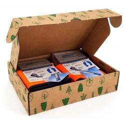 Box de deux chaussettes de sport orange