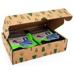 Box de deux chaussettes de sport vert fluo