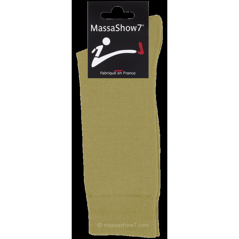 chaussettes coton couleur vert olive pour homme et femme. Black Bedroom Furniture Sets. Home Design Ideas