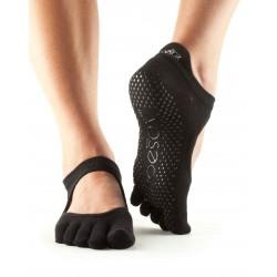 Chaussettes A Doigts Yoga & Pilates Bellarina Full Toe Noir Toesox®