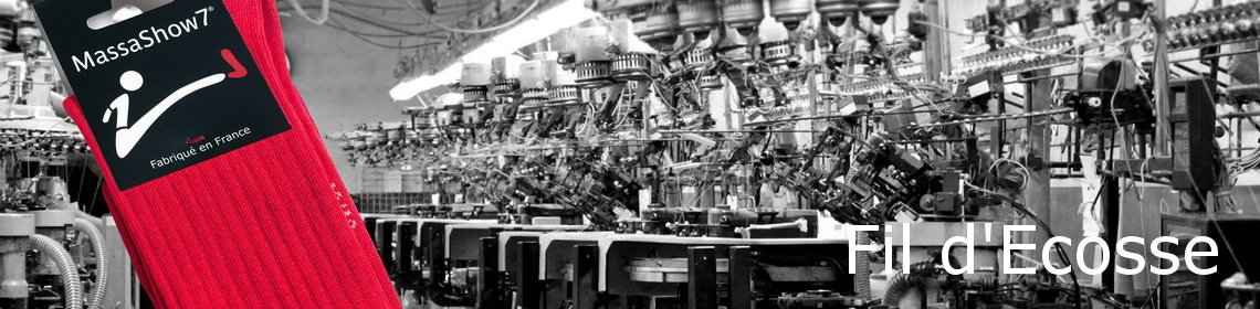 L e fil d'Ecosse pour la fabrication de chaussettes