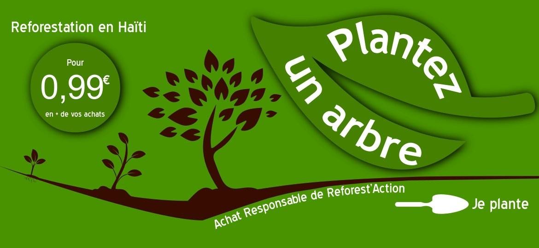 Plantez un arbre pour compenser les émissions de Co2