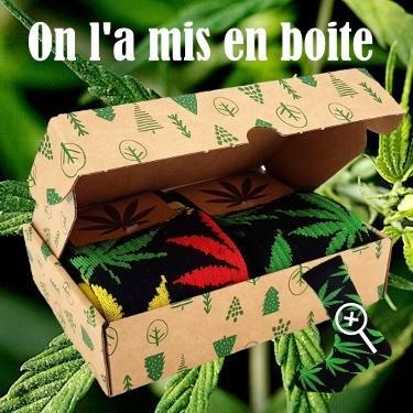 La box cadeau pour les chaussettes chanvre motif Jamaïque